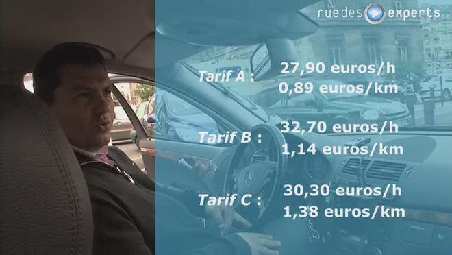 Les différents tarifs du taxi